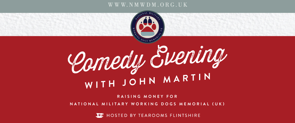 Charity Comedy Fundraising Evening for the NMWDM UK at the Tearooms Flintshire