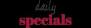 daily specials at the Tearooms Flintshire